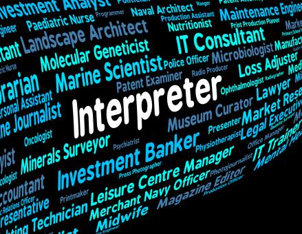 Free Stock Photo of Interpreter Job Shows Profession Jobs And Translators