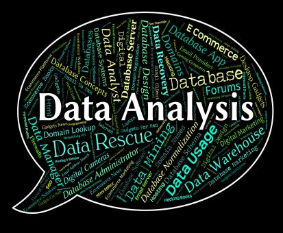 Free Stock Photo of Data Analysis Means Analytic Text And Word