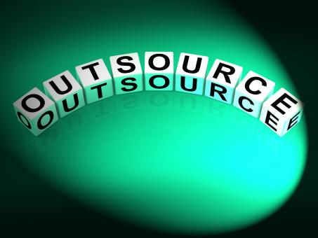 Free Stock Photo of Outsource Dice Show Outsourcing and Contracting Employment