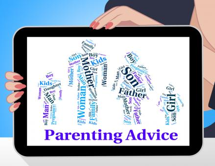 Free Stock Photo of Parenting Advice Means Mother And Child And Recommendations