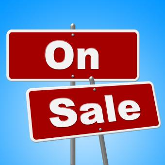 Free Stock Photo of On Sale Signs Represents Discount Save And Merchandise