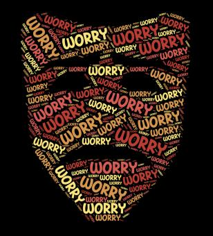 Free Stock Photo of Worry Word Indicates Ill At Ease And Concern