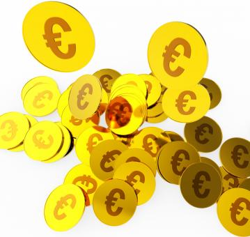 Free Stock Photo of Euro Coins Indicates Money Finance And Currency