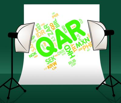 Free Stock Photo of Qar Currency Indicates Qatari Rial And Currencies