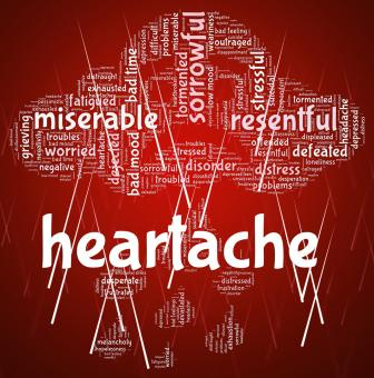 Free Stock Photo of Heartache Word Represents Agony Grief And Distress