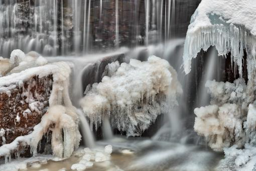 Free Stock Photo of Frozen Phantom Falls - HDR