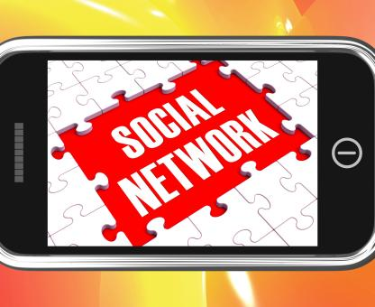 Free Stock Photo of Social Network On Smartphone Showing Online Interactions