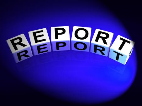Free Stock Photo of Report Dice Represent Reported Information or Articles