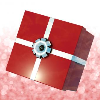 Free Stock Photo of Red Giftbox With Bokeh Background For Girls Birthday