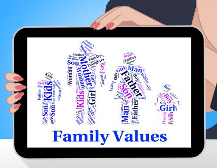 Free Stock Photo of Family Values Shows Blood Relation And Ethics