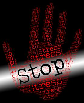 Free Stock Photo of Stop Stress Represents Warning Sign And Caution