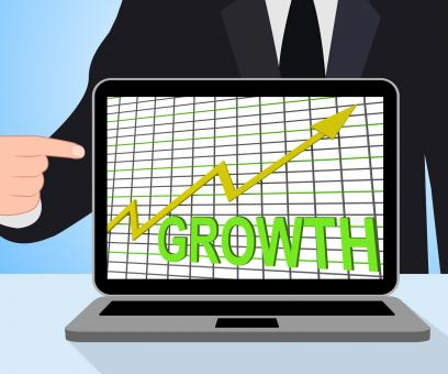Free Stock Photo of Growth Graph Chart Displays Increase Sales Profit