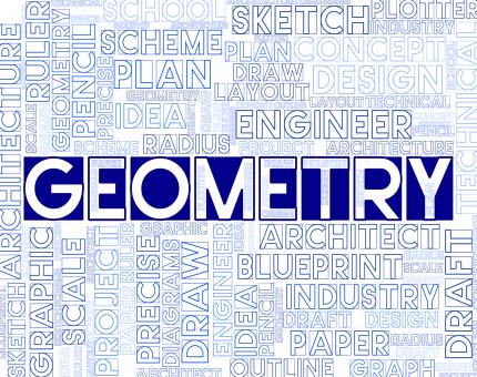 Free Stock Photo of Geometry Words Means Measurement Geometer And Topology