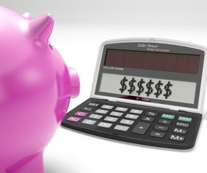Free Stock Photo of Dollars In Calculator Shows Rich American Fortune