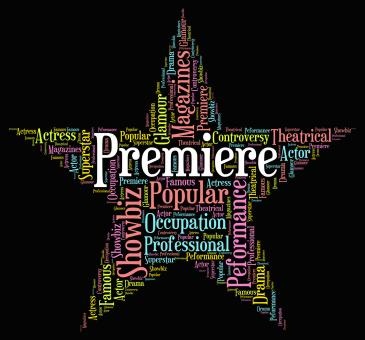 Free Stock Photo of Premiere Star Represents Opening Nights And Perfomance