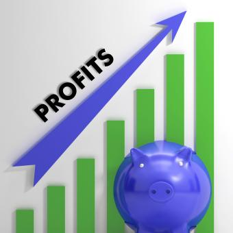 Free Stock Photo of Raising Profits Chart Showing Business Success