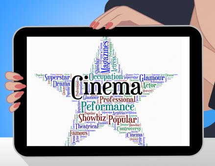 Free Stock Photo of Cinema Star Indicates Picture Show And Filmography