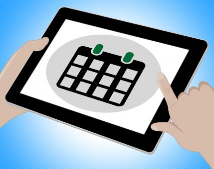 Free Stock Photo of Schedule Tablet Represents Computing Www And Timetable