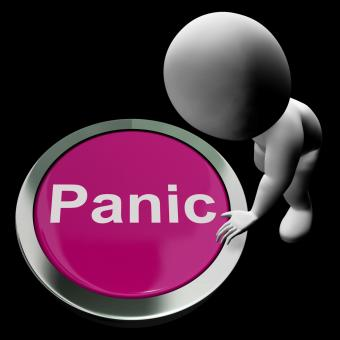 Free Stock Photo of Panic Button Shows Alarm Distress And Crisis