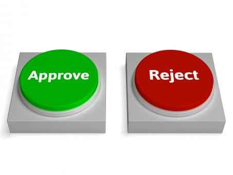 Free Stock Photo of Approve Reject Buttons Shows Approving