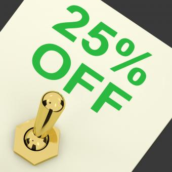 Free Stock Photo of Switch Shows Sale Discount Of Twenty Five Percent Off 25
