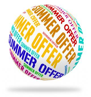 Free Stock Photo of Summer Offer Means Hot Weather And Bargain