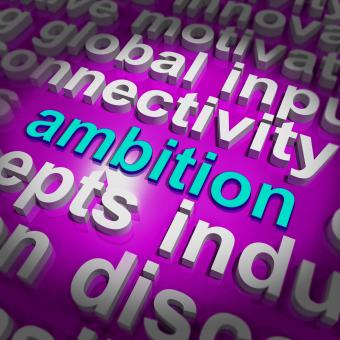 Free Stock Photo of Ambition Word Cloud Means Target Aim Or Goal