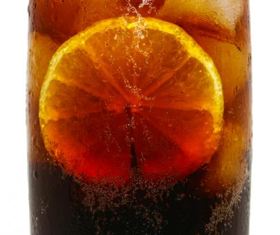 Free Stock Photo of Cold Drink Of Cola With Lemon