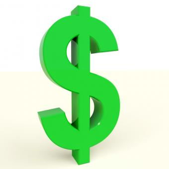 Free Stock Photo of Dollar Symbol Showing Money Or Investment In The Usa