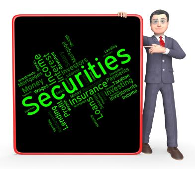 Free Stock Photo of Securities Word Shows In Debt And Bond