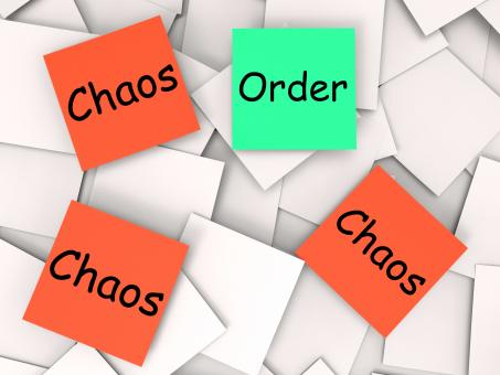 Free Stock Photo of Order Chaos Post-It Notes Mean Orderly Or Chaotic