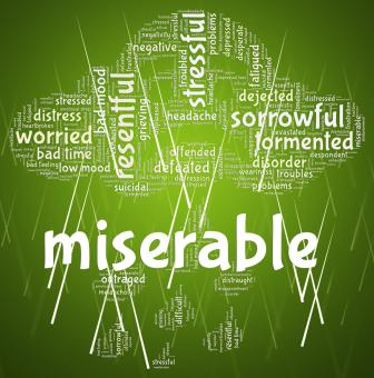 Free Stock Photo of Miserable Word Indicates Grief Stricken And Desolate