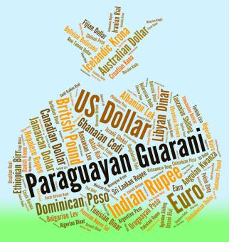 Free Stock Photo of Paraguayan Guarani Shows Exchange Rate And Banknote
