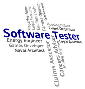Free Stock Photo of Software Tester Means Freeware Words And Occupations