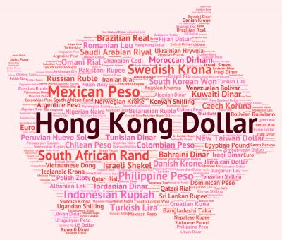 Free Stock Photo of Hong Kong Dollar Shows Currency Exchange And Banknotes
