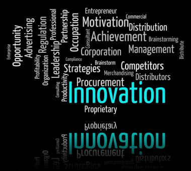 Free Stock Photo of Innovation Word Indicates New Idea And Improve