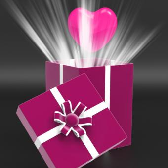 Free Stock Photo of Heart Giftbox Means Valentines Day And Affection