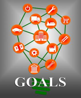 Free Stock Photo of Goals Icons Shows Aspirations Targeting And Aspire