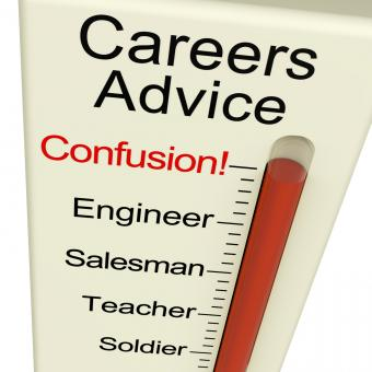 Free Stock Photo of Careers Advice Monitor Confusion Shows Employment Guidance And Decisio