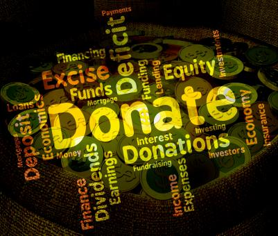Free Stock Photo of Donate Word Indicates Contribution Text And Contributes