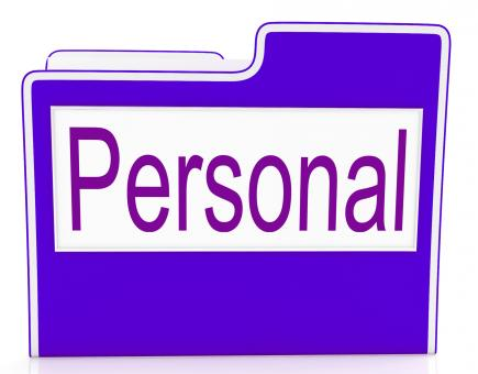 Free Stock Photo of File Personal Means Confidentially Folders And Individually