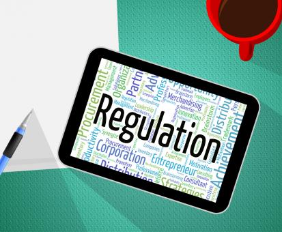 Free Stock Photo of Regulation Word Means Edict Rule And Law