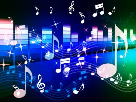 Free Stock Photo of Multicolored Music Background Shows Song RandB Or Blues