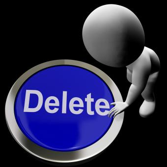 Free Stock Photo of Delete Button For Erasing Or Deleting Trash