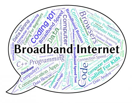 Free Stock Photo of Broadband Internet Means World Wide Web And Computer