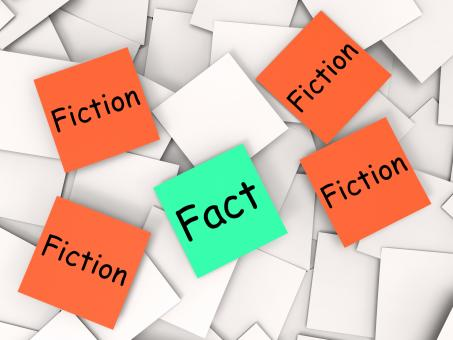 Free Stock Photo of Fact Fiction Post-It Notes Mean Truth Or Myth