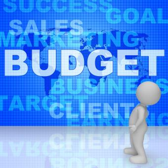Free Stock Photo of Budget Words Means Bills Costing And Money 3d Rendering