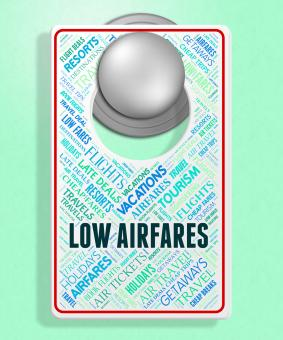 Free Stock Photo of Low Airfares Means Selling Price And Aeroplane