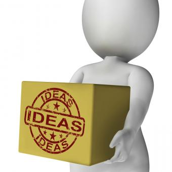 Free Stock Photo of Ideas Box Means Inspire Innovate And Plan