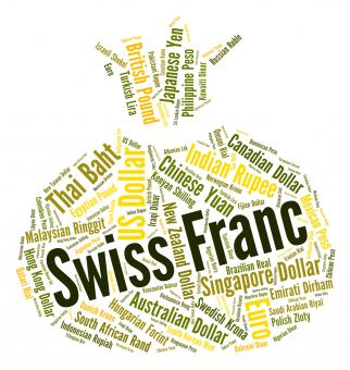 Free Stock Photo of Swiss Franc Means Worldwide Trading And Coin